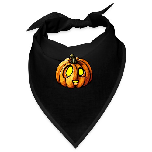 Pumpkin Halloween watercolor scribblesirii - Bandana