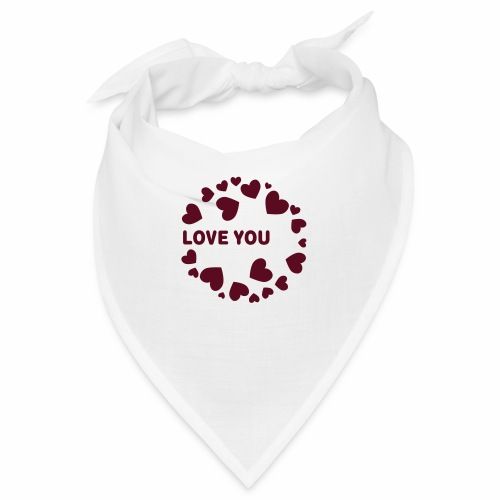 Herzen LOVE YOU - Bandana