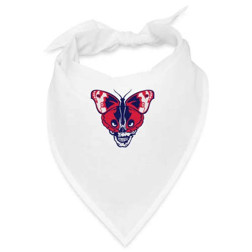 papillon butterfly tete mort skull dead - Bandana