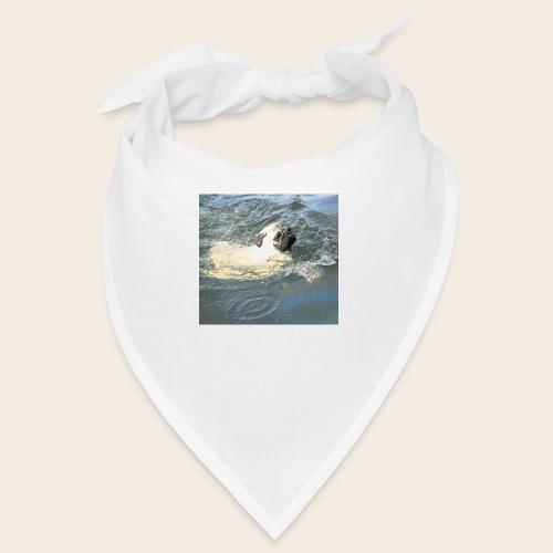 Mops schwimmt - Bandana
