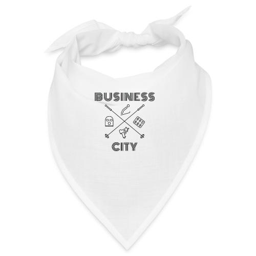 Business City - musta painatus - Bandana