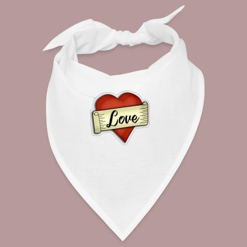 Love cœur tatouage - Bandana