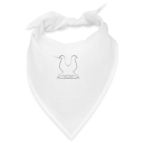 2PIGEONS white - Bandana