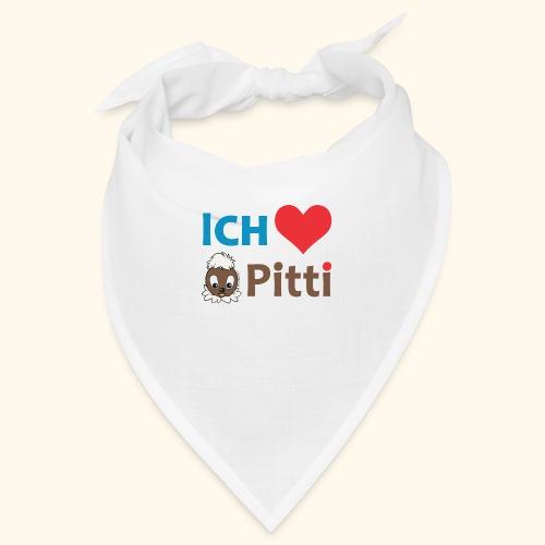 Pittiplatsch Ich liebe Pitti auf hell (blau/braun - Bandana