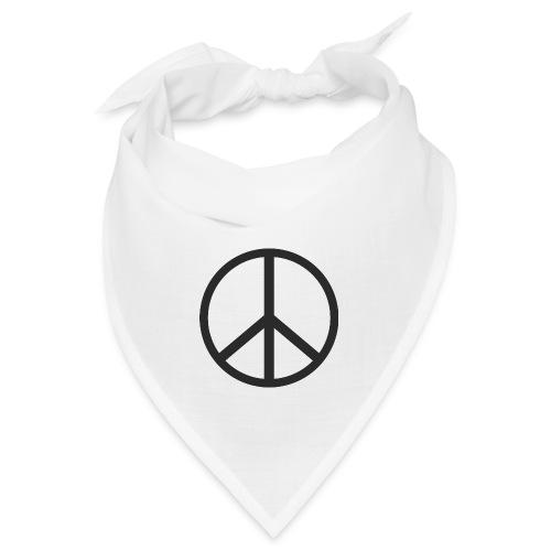 Símbolo de la paz negro - Bandana