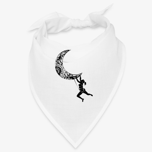 Climbing Woman Girl moon - Climber on the moon - Bandana