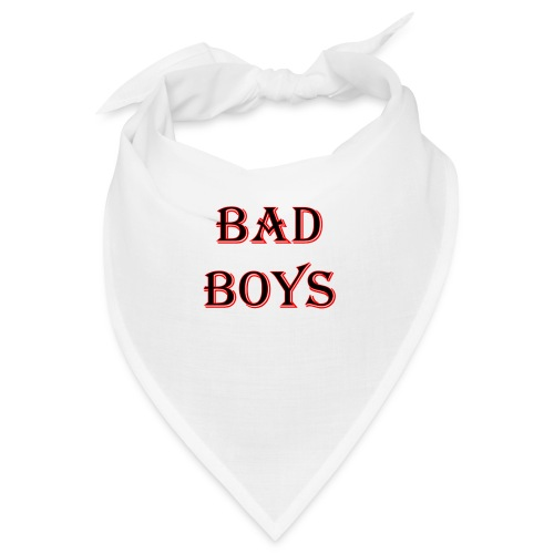 bad boys black red - Bandana
