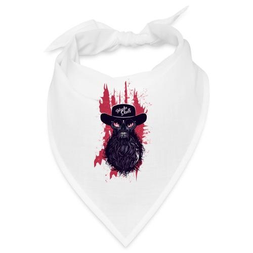 tete de mort hipster skull barbu moustache crane f - Bandana