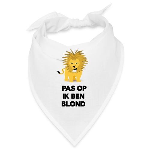 Pas op ik ben blond een cartoon van blonde leeuw - Bandana