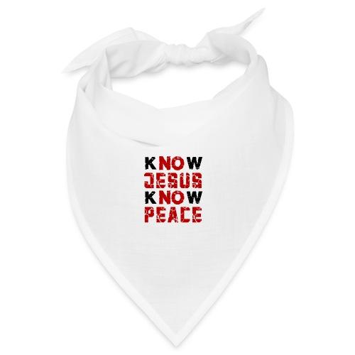Know Jesus Know Peace (Flower Design) - Bandana