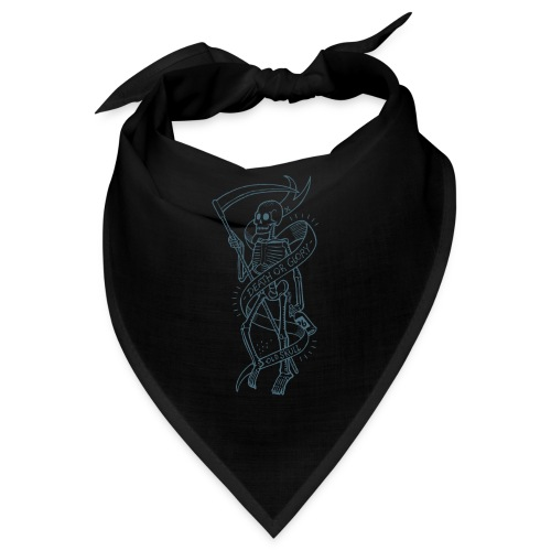 Old Skull blue - Bandana