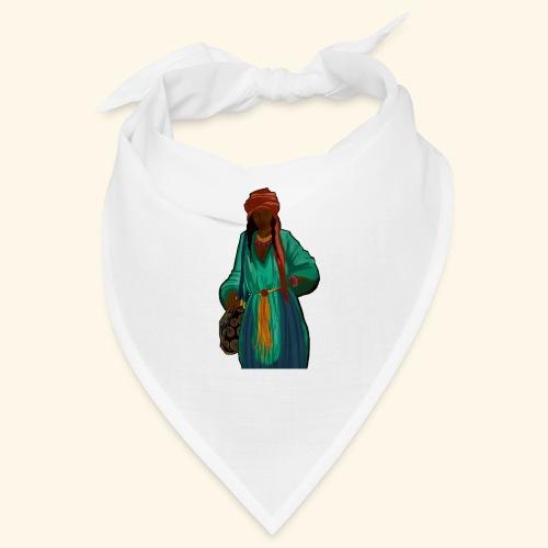 Femme avec sac motif - Bandana