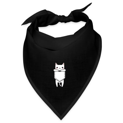 cat, kitty, cat in his pocket, white cat, cats - Bandana
