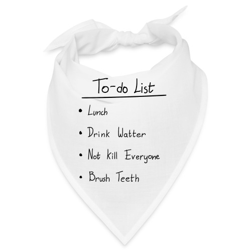 To do list - Bandana