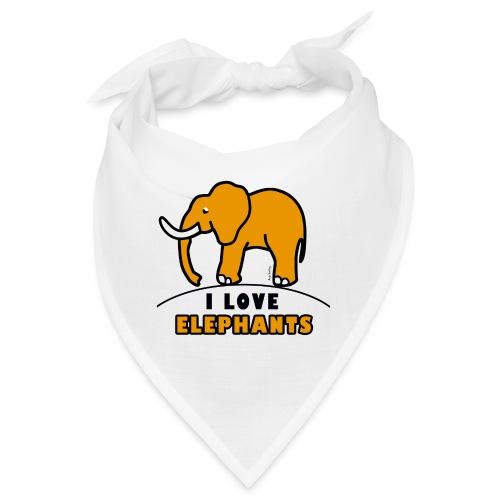 Elefant - I LOVE ELEPHANTS - Bandana