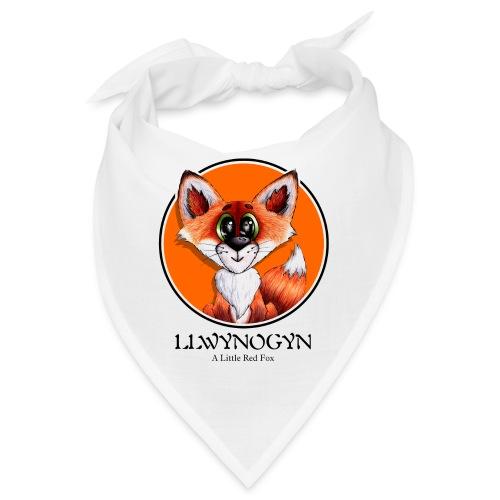 llwynogyn - a little red fox (black) - Bandana
