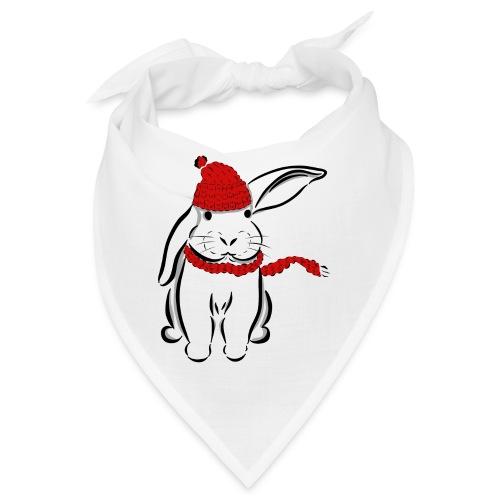 Kaninchen Hase Mütze Schal Schlappohr Schneehase - Bandana