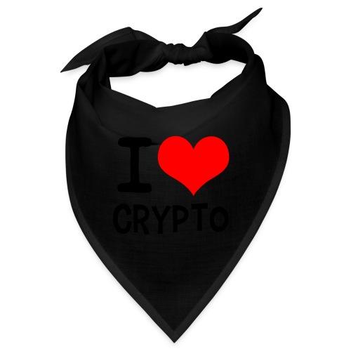 I Love Crypto (black version) - Bandana