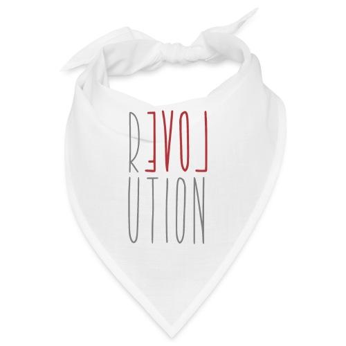 Love Peace Revolution - Liebe Frieden Statement - Bandana