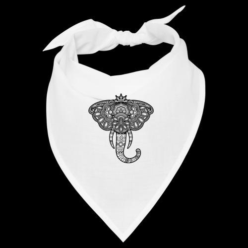 Henna Elephant black - Bandana
