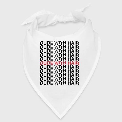 Dude With Hair Red Wave - Bandana