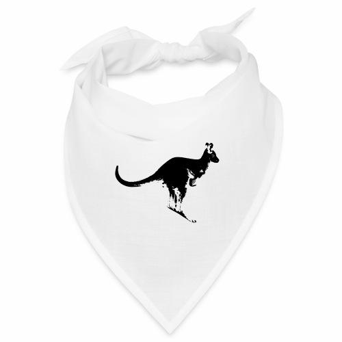 Känguru in schwarz weiss - Bandana
