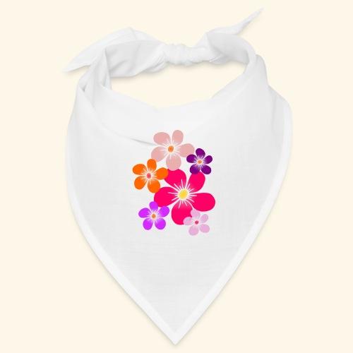 bunte Blumen Blüten Blumenranke Blume floral - Bandana
