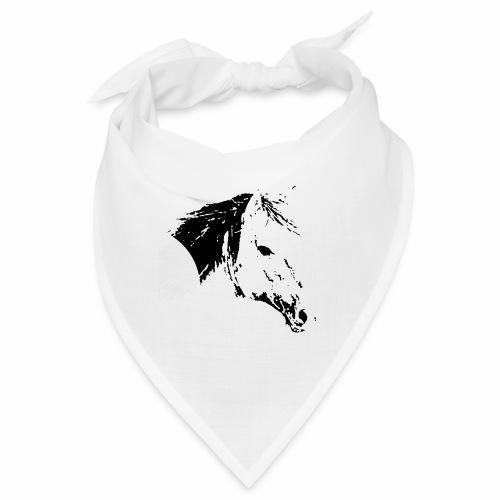 Pferd als schwarze Silhuette - Bandana