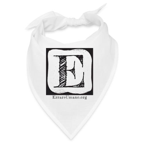 Logo ErrareUmano (scritta nera) - Bandana