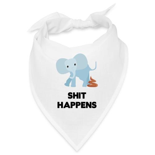 olifant met drol shit happens poep schaamte - Bandana