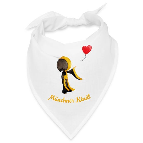 Münchner Kindl mit Herz-Luftballon - Bandana