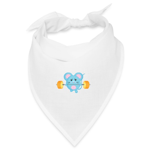 little mouse, mouse, mouse on sports, mouse with barbell - Bandana