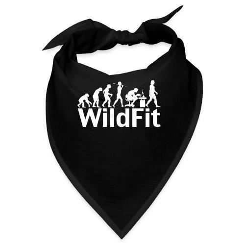 WildFit Logo Evolution Weiß - Bandana