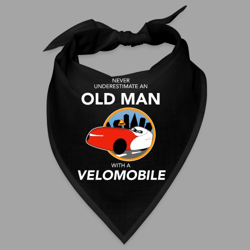 Never underestimate an old man with a velomobile - Bandana