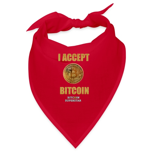 I accept bitcoin - Bandana