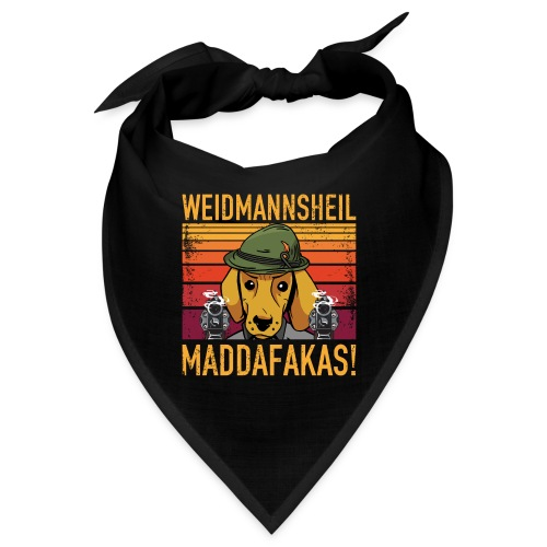 Weidmannsheil Maddafakas! Dackel Jäger Vintage fun - Bandana