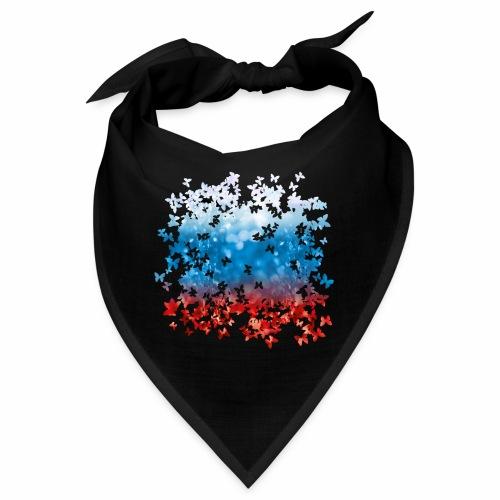 06 Russland Flagge Fahne Russia Schmetterlinge - Bandana