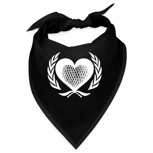 Herz Kranz Gitter Netz Logo Emblem Geschenkidee - Bandana