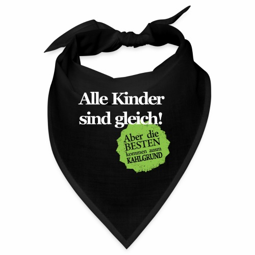 Kinder sind gleich, außer Kahlgründer - WEIß/GRÜN - Bandana