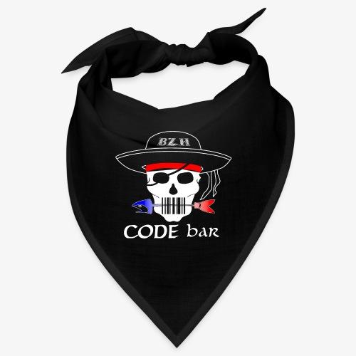 Code Bar white - Bandana