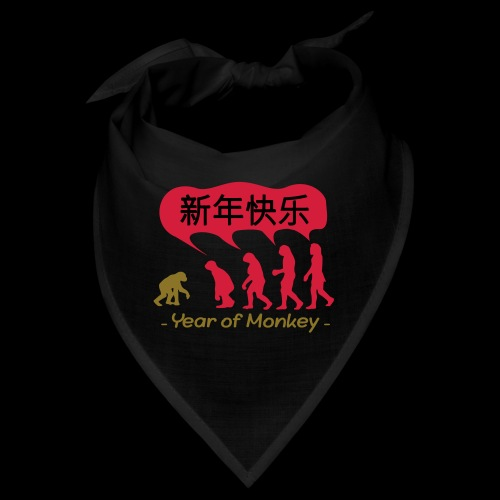 kung hei fat choi monkey - Bandana