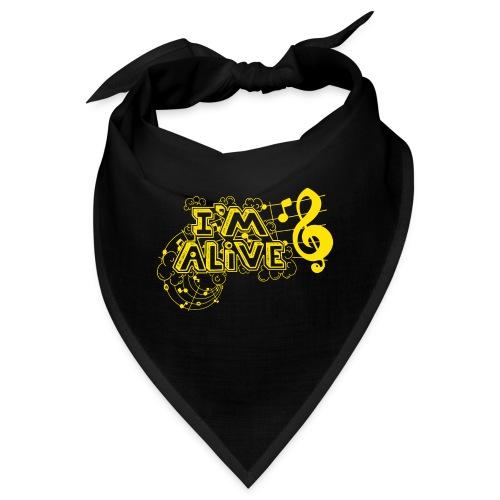 i m alive geel png - Bandana