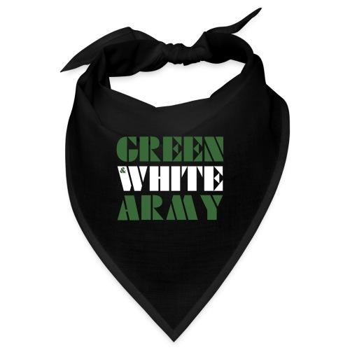 GREEN & WHITE ARMY _STENCIL_3 - Bandana