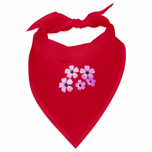Blumen violett - Bandana