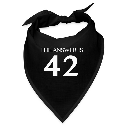 The Answer is 42 White - Bandana