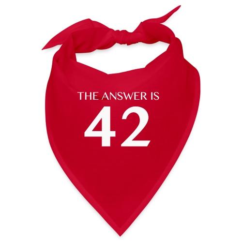 The Answer is 42 White - Bandana