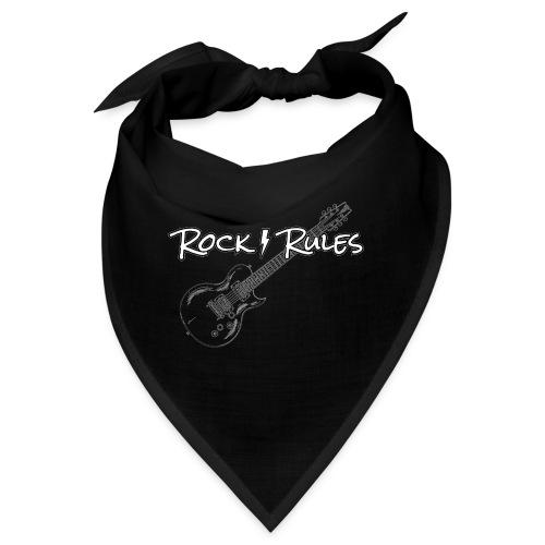 Rock Rules Shirt Gitarre Geschenk - Bandana