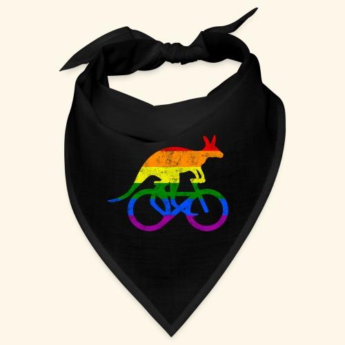 Radfahrer Känguru lustiges Fahrrad Regenbogenfahne - Bandana