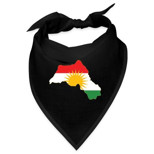 Kurdistan Flag Map - Bandana