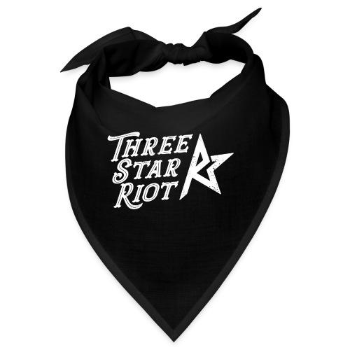 Three Star Riot logo vaalea - Bandana